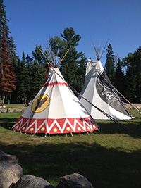 Picture of a Tipi at Spirit Pont