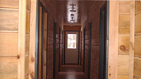 Picture of interior hallway of bunk house at Spirit Point