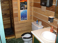 Picture of a bathroom in the bunk house at Spirit Point