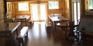 Picture of the interior of the dining hall at Spirit Point