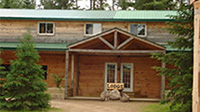 Picture of front of main lodge at Spirit Point