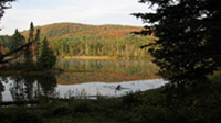 Picture of Hinsburger Lake from back of Main Lodge at Spirit Point