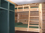 Picture of a bedroom with bunk beds in the main lodge at Spirit Point