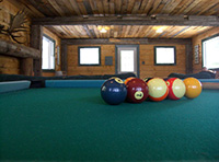 Picture of the pool table in the recreation hall at Spirit Point