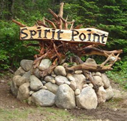 picture of sign for Spirit Point at road side