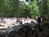 Picture of a wedding ceremony held at Spirit Point